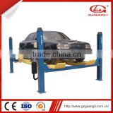 Maintenance shop tools GUANGLI Four post car lift for 4-wheel alignment with secondary lift