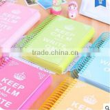 drawing paper note book spiral notebook coloured cover note book