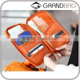 Multifuction High-capacity Travel Data Cable Line Cellphone Storage Waterproof Canvas Passprt Holder Organizer Bag Travel Wallet