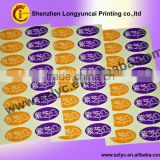 colorful water-proof PVC adhesive letters labels