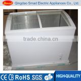 curved sliding glass freezer glass door display freezer                                                                                                         Supplier's Choice