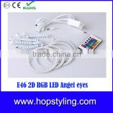 RGB Angel Eyes for E46 Coupe 2D(04+)/E46Cabrio Emark approval Car LED Accessory parts Auto Lamp