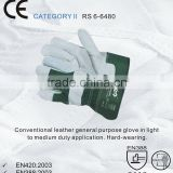 RS SAFETY Work glove EN388 in cow split leather palm and Hard knuckle gloves with protective fingertips