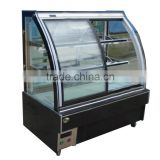 APEX supermarket/store front opening upright freezer with glass doors/double door upright freezer/upright freezer showcase