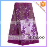 Mitaloo African French Tulle Lace Fabrics Embroidery Hand Beaded Lace For Bridal MFL1218