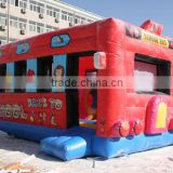 Hot sale inflatable jumper school bus model kids amusement jumper