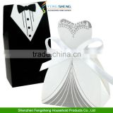 DRESS TUXEDO BRIDE GROOM WEDDING FAVOR BOXES RIBBON CANDY BOMBONIERE                                                                         Quality Choice