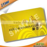 gold hot stamp foil pvc card Magnetic gold foil PVC VIP card with hot stamp craft supplier
