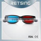 Hot sale plastic 3d glasses for cinema plastic red-blue 3d glasses pictures porn