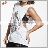 High Quality Ladies Loose Fit Tank Top Womens Workout Singlets Low Cut Sleeveless Sport Running Wear