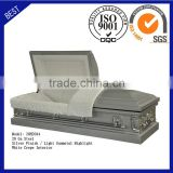 20H2044 funeral supply good quality cheap price coffin American steel casket