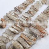 Natural wholesale crystal phantom quartz loose beads points strand                                                                         Quality Choice