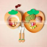 ECO friendly and healthy bamboo fibre kids dinner set , kids tableware set,bowl&plate&cup &spoon&fork