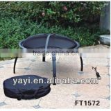 30 inch steel outdoor bbq folding fire pit