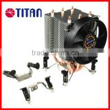 Professional easy installation with push-pin clip 3 heat pipe CPU Cooler for Intel LGA 775