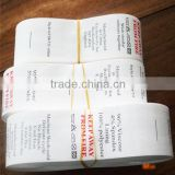 High quality custom waterproof tyvek printing label, printed wash care labels for clothes, trousers                                                                         Quality Choice