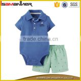 OEM kids pajama suit comfort cotton plain baby romper set with shorts                                                                                                         Supplier's Choice
