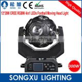 Newest great show effect 12x20w cree rgbw 4in1 led football moving head disco light                                                                         Quality Choice