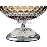 clear glass dinner plates fruit tray with bow and tall foot for home decoration                                                                         Quality Choice