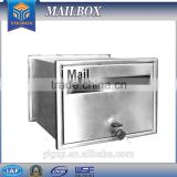 2016 waterproof Germany stainless steel mailbox for apartment letter box/post box