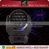 Hot !! 2015 19pcs 12.8w LED beam moving head zoom light / zoom moving head quad color led
