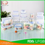 3pcs plastic kitchen plastic food storage container set