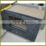 Pre Cut Square Sink Blue Pearl Granite Fabricated Bathroom Vanity