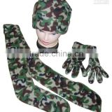 fashion polar fleece scarf,hat and glove for winter season