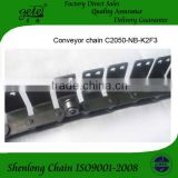 Double pitch conveyor chain C2050 with side roller and special attachments-use for CD conveyor line