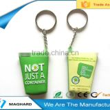 cup shaped soft pvc fridge magnet key chain                                                                         Quality Choice
