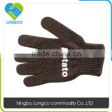 Factory price polyester bath gloves exfoliating gloves