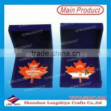 Enamel metal coins maple badge emblems in velvet box packing,souvenir commemorative personalized coin medallion maker