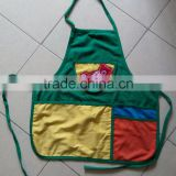 kids kitchen cotton apron children painting apron little cooker apron customized logo printing &embroidered pocket available