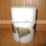 gingko candles/candle with gingko leaves