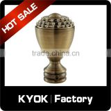 KYOK 2016 new metal curtain pole finials,metal curtain pole finials&aluminum fence finial
