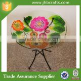 Hotsale Painted Flower Bird Feeder With Light Garden Decoration