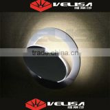 Contemporary China supplier round cute wall lamp light silver/black/white warm white & pure white