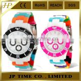 wholesale design waterproof mixed color rotating watch plastic bezel watches
