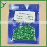 wholesale price per carat small round machine cut can wax setting lab created nano rough green diamond