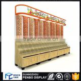 Excellent material wooden acrylic short candy display cabinet                                                                         Quality Choice