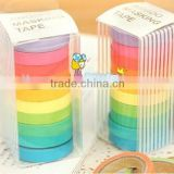 Stock Promotional New High quality washi masking tape/colorful candy adhesive tape / DIY sticker label/wholesale