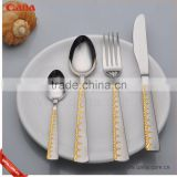 wholesale gold plated cutlery set kitchen cutlery                                                                                                         Supplier's Choice