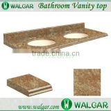 India gold granite bathroom vanity top with two sinks                                                                                                         Supplier's Choice