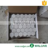 Italian Bianco Carrara White Hexagon Marble Mosaic Tile                                                                         Quality Choice