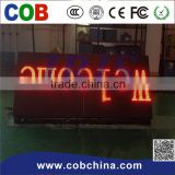 taxi top LED display full color 3G/Wifi control double sided advertising led moving sign display screen
