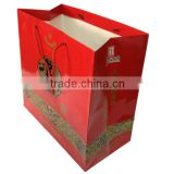 Red Paper Bag / Wine Packaging bag / Cardboard Paper Handbag/ Eco-Friendly / Free Sample / OEM / Wholesale / shenzhen packaging