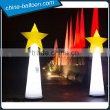 Inflatable Christmas cone with star / led lighting inflatable star cone for night decoration