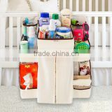 Baby Item Hanging Organizer Bag Baby Crib Side Storage Bag With Compartment