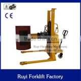 hot selling Semi Electric oil drum stacker forklift