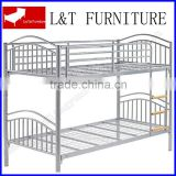 metal bunk bed with wood ladder
